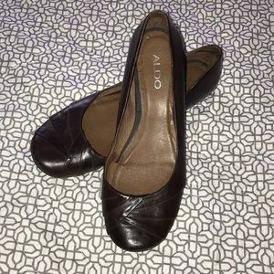 Aldo flats with pleated toe